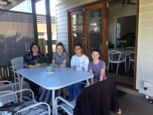 Sae Kiyama with Host Family