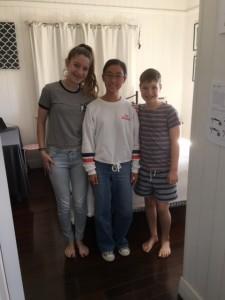 Sae Kiyama with Host Sister Erin & Brother Daniel