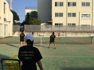 テニス練習風景 005